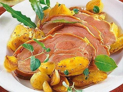 Italienischer Schweinebraten in Parmaschinken -