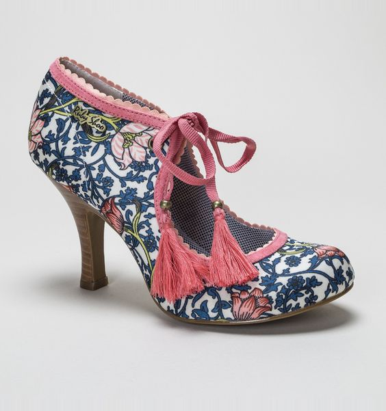 Ruby Shoo Willow Navy-Coral Womens Shoes