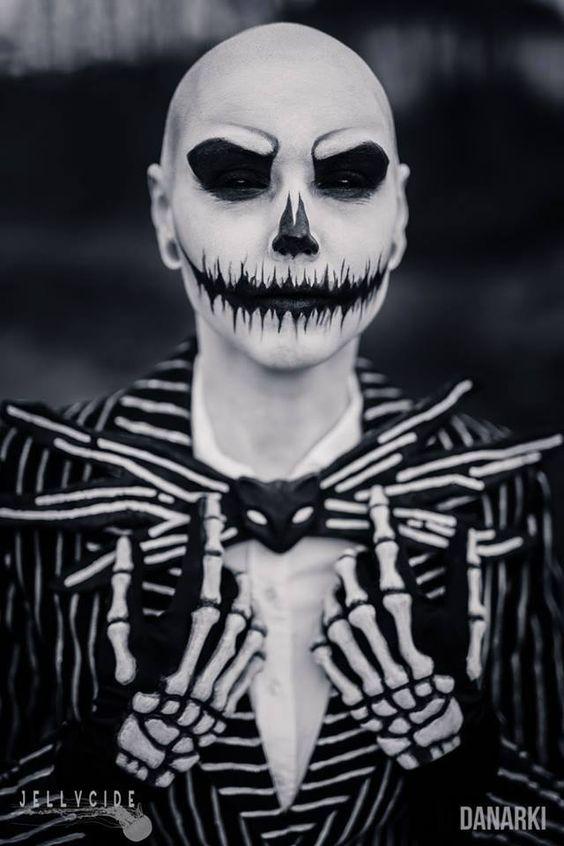 Awesome makeup; Jack Skellington by Karin Olava Effects Photo by Danarki Photography