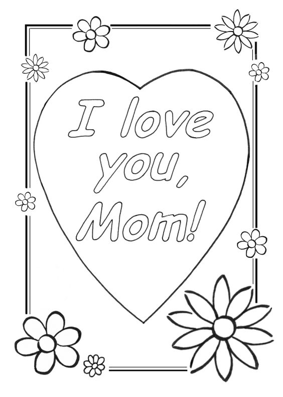 Cool coloring sheets love you mom coloring pages cool for Mothers day coloring pages religious