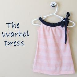 Nautical dress for baby made from a free tutorial and pattern!