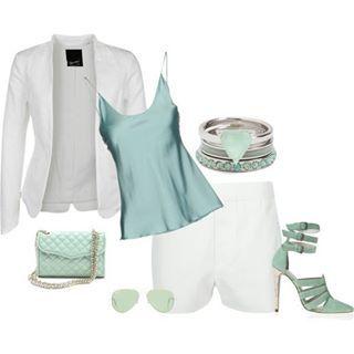 Branco e verde agua