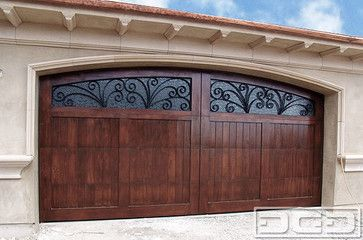 Italian mediterranean style garage doors with decorative Italian garage doors