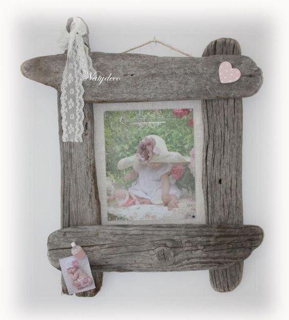 Cadre photo en bois flott natydeco en vente sur http - Cadre en bois flotte decoration ...