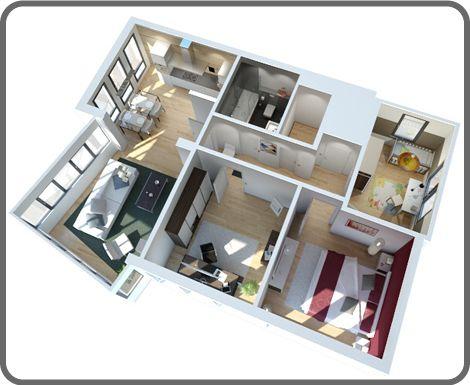 3d grundriss pq6nikf1q bungalow pinterest 3d. Black Bedroom Furniture Sets. Home Design Ideas