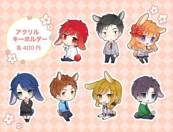"""""""Hori Masayuki"""" """"Kashima Yuu"""" """"Mikoshiba Mikoto"""" """"Nozaki Umetarou"""" """"Sakura Chiyo"""" """"Seo Yuzuki"""" """"Wakamatsu Hirotaka"""""""
