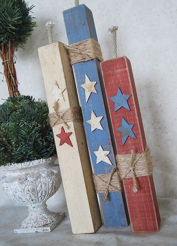 Folksy Firecrackers Wood Crafts Firecracker and Decor