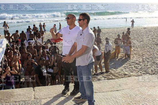 Paul & Vin on FF5 set Rio, Brazil - 4th Nov 2010
