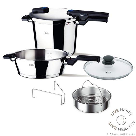 Fissler Vitaquick 6-piece Quattro Pressure Cooker Set
