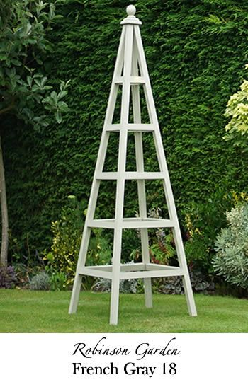 Wooden Garden Obelisks Beautiful Affordable Designs Give Height
