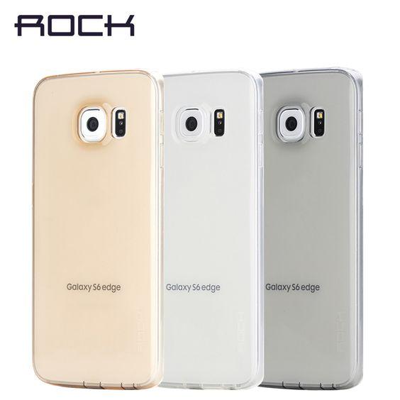 ROCK Original Ultrathin Transparent TPU Phone Case For Samsung Galaxy S6 edge Slim Jacket shell soft Case Cover 27 | New Gadgets Info