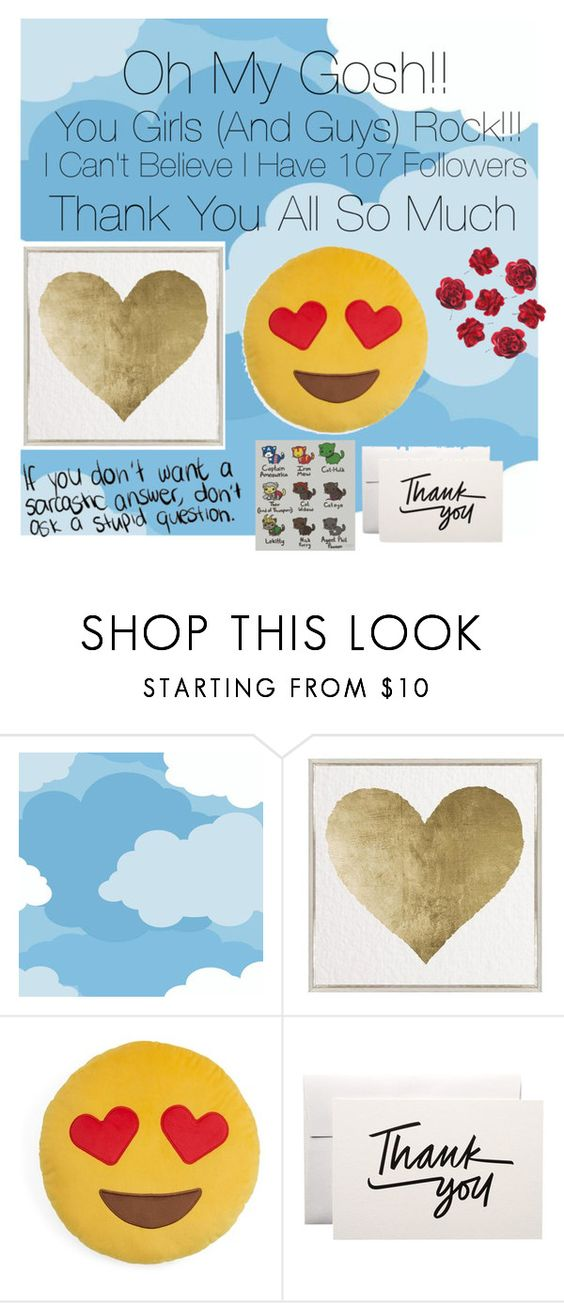 """THANK YOU GUYS!!!!"" by olivia-awes0me ❤ liked on Polyvore featuring York Wallcoverings, Oliver Gal Artist Co. and Throwboy"