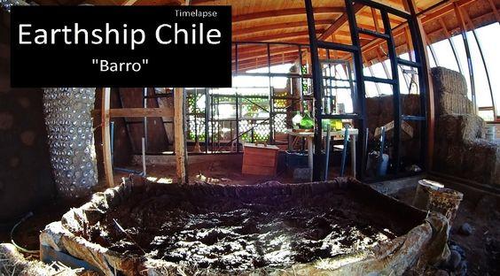 Earthship Chile, Timelapse Barro