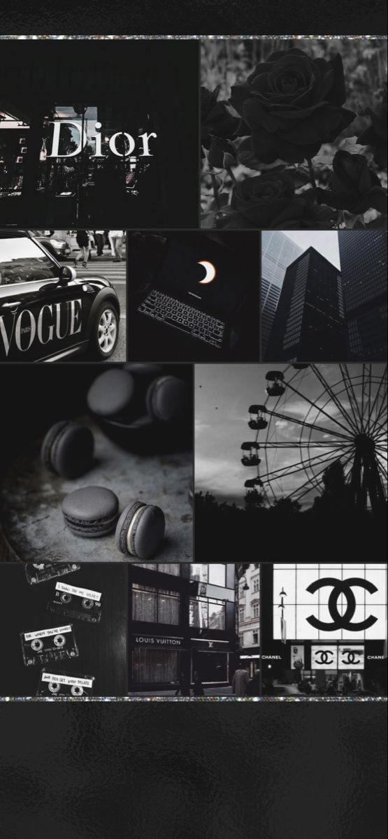 Wallpaper Background Hd Collage Black Aesthetic Iphone