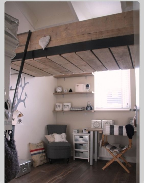 Met een trap naar je bed dat is cool inspiratie 4kids pinterest loft beds beds and met - Bed dat rangschikt ...