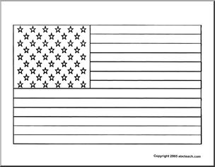 how to draw the usa flag