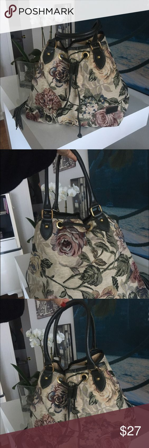 Floral Ghezy Bag handbag The bag is used but still in good conditions Ghezy Bag Bags Shoulder Bags