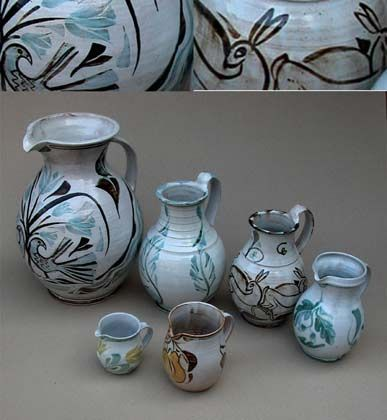 Ceramics by Andrew Hazelden at Studiopottery.co.uk - Various jugs