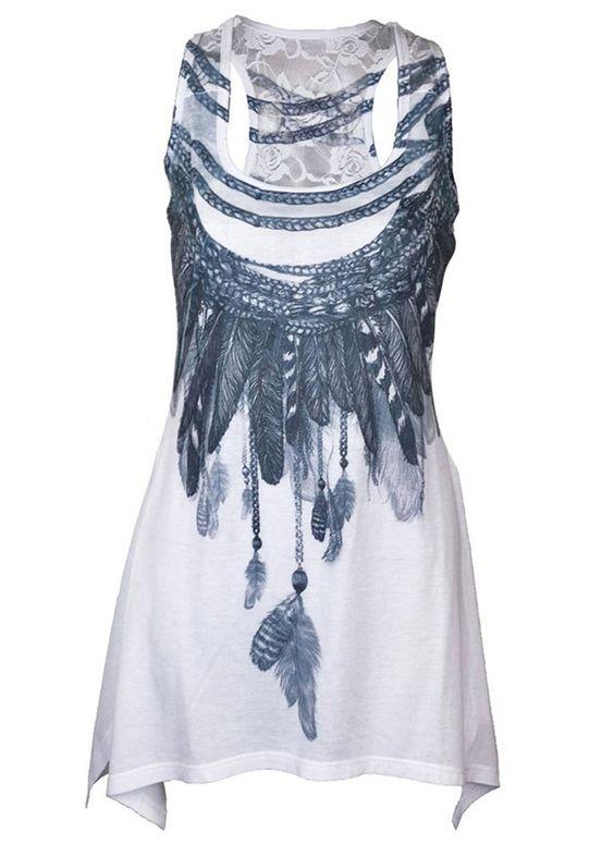 Innocent Clothing Freedom Lace Panel Vest | Attitude Clothing