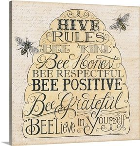 Hive Rules Wall Art, Canvas Prints, Framed Prints, Wall Peels