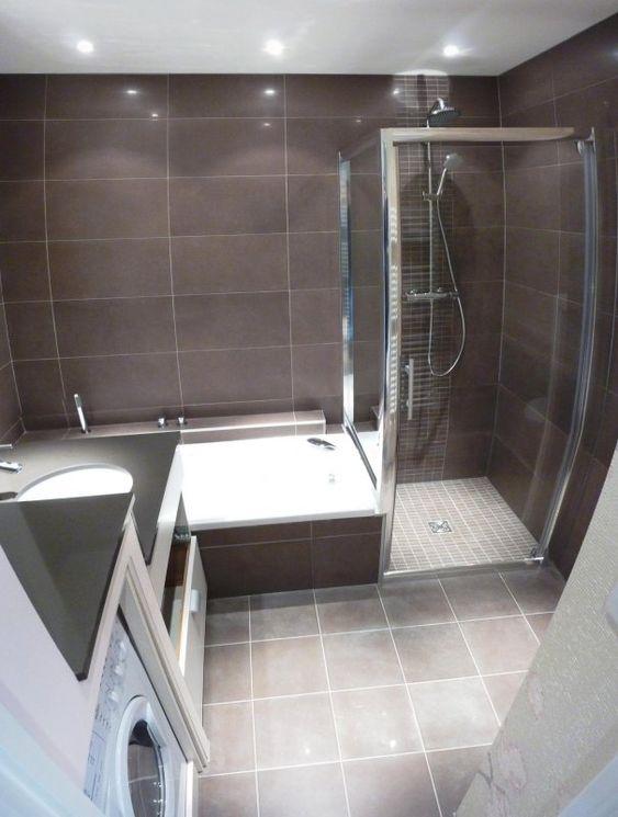douche italienne et baignoire dans petite salle de bain  Recherche