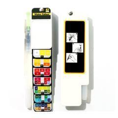 Kit Aquarelle Portable Pour Peindre Melange De Couleur Et Vert