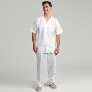 white linen shirt and pants - Pi Pants