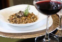 Risoto funcional de shimeji com quinoa