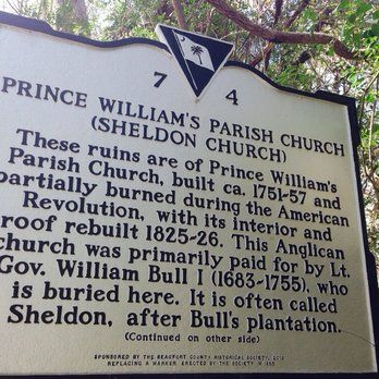 Old Sheldon Church Ruins - Yemassee, SC, United States. Information