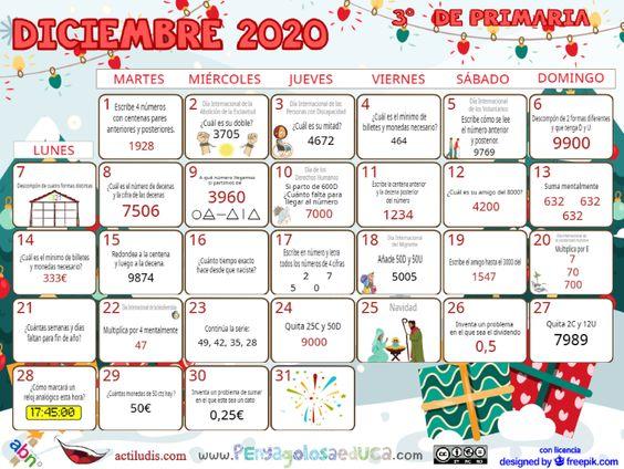 Calendario Tercero ABN – Diciembre 2020