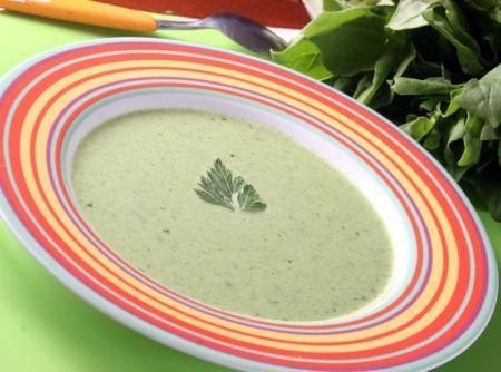 Receita de Sopa Creme de Vegetais - espinafre, escarola, acelga, brócolis, creme de leite , sal, Caldo de Legumes
