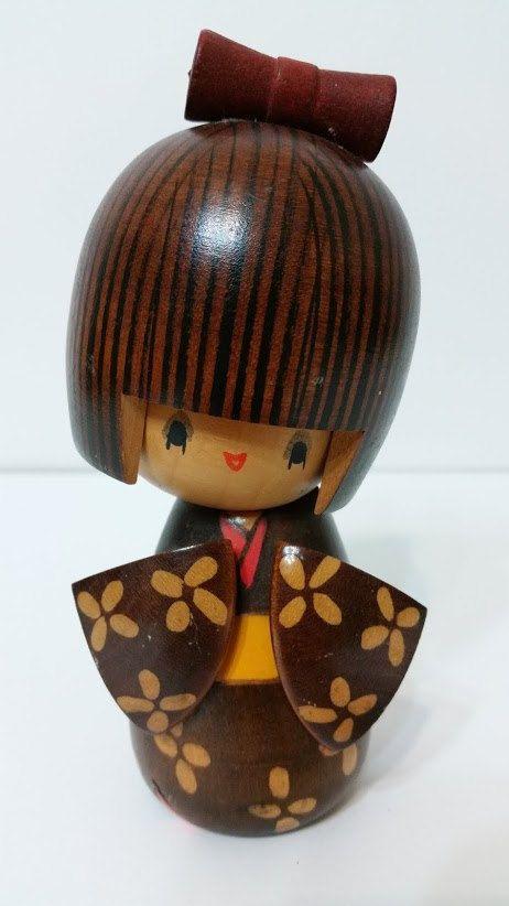 Beautiful Vintage Kokeshi Doll by ForgetMeNotMarket on Etsy