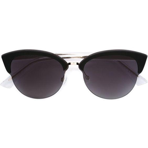 Dior 'Run' sunglasses (6.615 ARS) ❤ liked on Polyvore featuring accessories, eyewear, sunglasses, metallic, black sunglasses, metallic sunglasses, christian dior eyewear, black glasses and christian dior