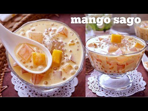 Mango Sago Dessert Mangga Super Creamy Dan Segar Youtube Hidangan Penutup Cemilan Mango