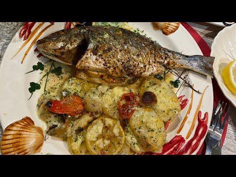 أروع واسهل طريقة لتحضير سمك الدوراد يالبطاطس في الفرن وأكدولي على التعسال La Dorade Au Four Delice Youtube Food Chicken