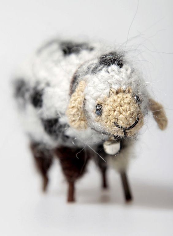 Small sheep made from wool decorated with beads by StudioDadaBg, €30 ...