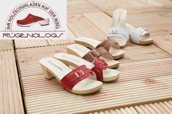 Woody Clogs natürliche Holzclogs Pantoletten Sandalen