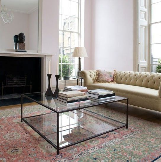 Simple Glass Coffee Table Centerpiece Ideas Modern Square Glass