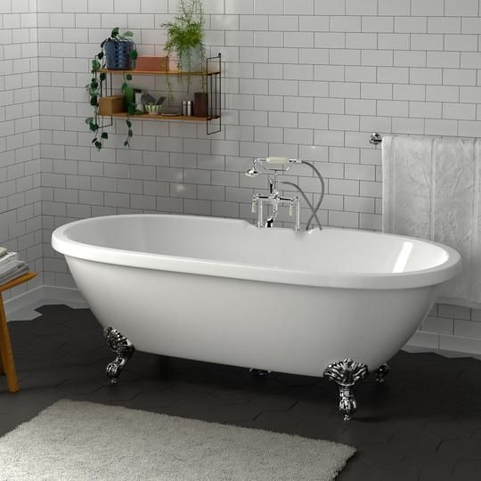 70 Augusta Acrylic Double Ended Clawfoot Tub Imperial Feet