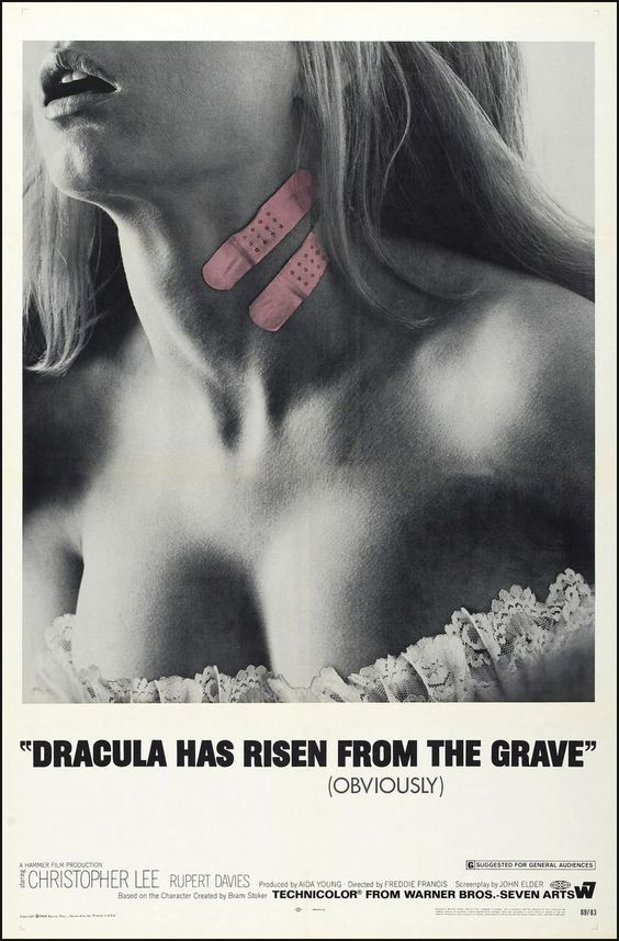 Dracula Has Risen from the Grave (1968) starring Christopher Lee