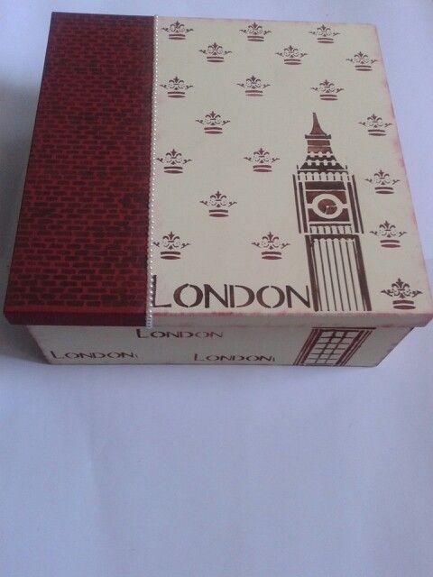 Caixa Organizadora Londres     www.crisartesanato.com