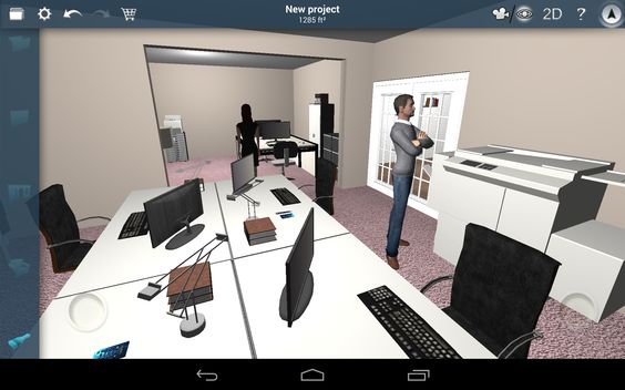 Office project. Created with #homedesign3d app. http://bit.ly/11lHyqp