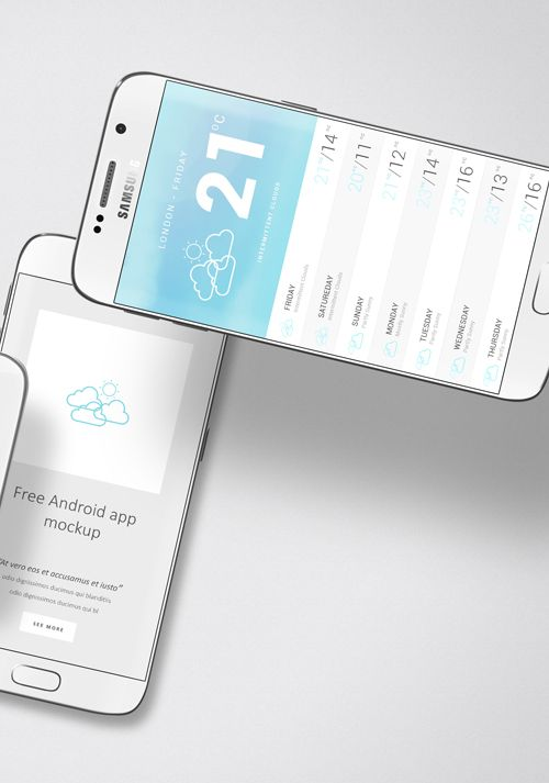 Free Android App Mockup Zippypixels Android Apps App Mockup Free Free Android