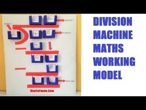 Math Working Model Division Machine For School Kids Tlm Howtofunda Diy Youtube Math Models Math Projects Math