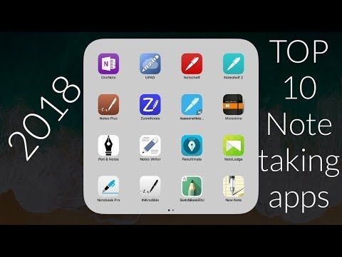 2018 S Top 10 Note Taking Apps For Ipad 2018 And Ipad Pro