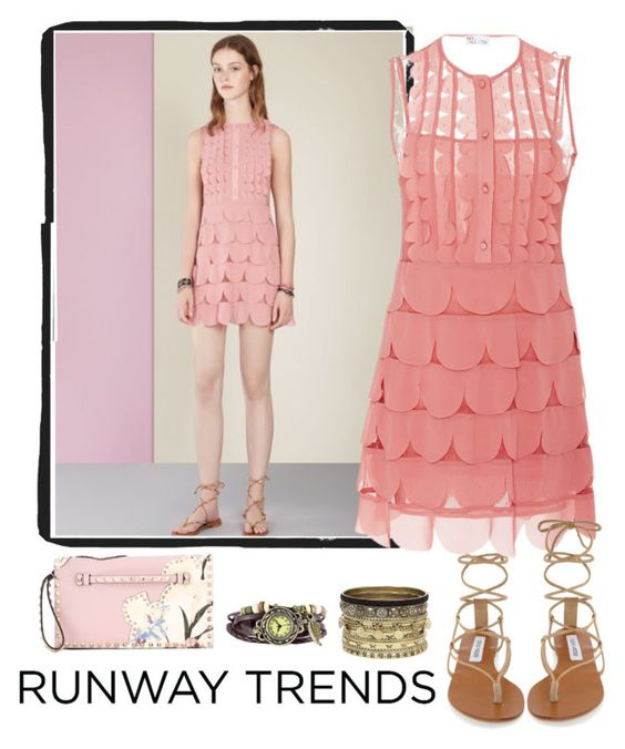 """Runway Trend"" by delylahvasquez ❤ liked on Polyvore featuring Steve Madden, RED Valentino, Daytrip and Valentino"