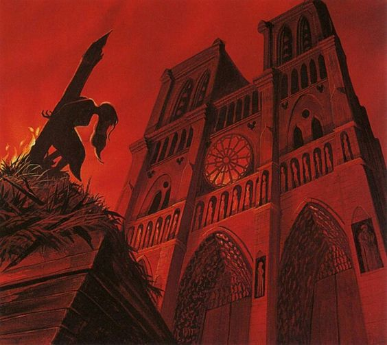 Disney concept art for The Hunchback of Notre Dame. Damn. God help the outcasts or nobody will, indeed.: