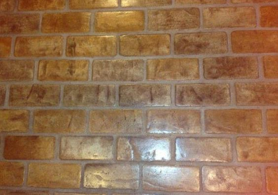 Colors gray and grout on pinterest for Brick veneer floor
