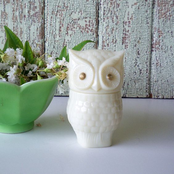 Vintage Owl Perfume Bottle how to design a 1960's home office