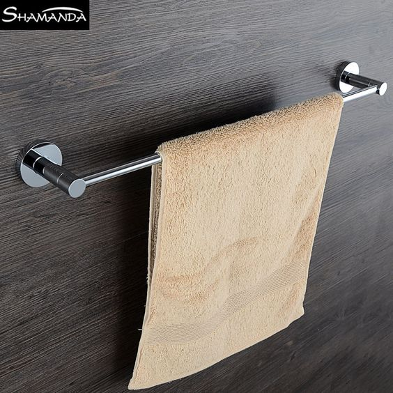 The Awesome Web New Real Solid Brass Chrome Single Double Towel Bar Towel Rack Bathroom Accessories Towel Holder